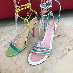 2 pairs of Colin Stuart heel sandals. Size 6.5